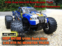 Wholesale HSP th Scale Nitro Off Road Monster Truck GHZ RTR RC Car Pivot Ball Suspension