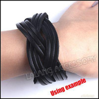 Wholesale Black Punk Rivet Bracelet Leather Surfer Wristband Bracelet Per