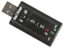 7.1 canais USB Adapter áudio 3D Sound Card externo