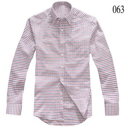 Wholesale amp retail new srping amp autumn Men s Shirts cotton Brand Men s long sleeve shirt E201106A