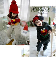 Wholesale new boy s suits autumn boy s big birds design suits Children suits boy s Tracksuit Big birds suits