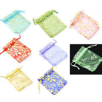 Wholesale Jewelry gift bags Organza bags x7cm Gift bags color and style blend candy bags