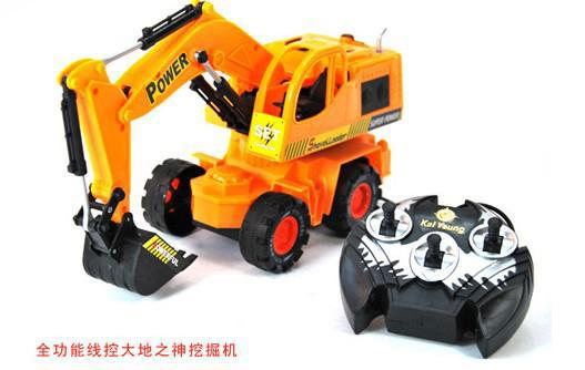 Digging Toys For Boys : Retail god of earth wire cable rc digger excavators for