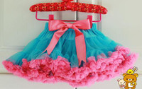 Wholesale Red Light Blue FULL Pettiskirt Skirt Dance Tutu Dresses Year Sample Supported