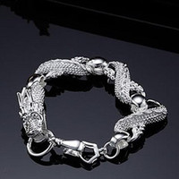 Wholesale top quality fashion silver charm Dragon chain bracelet jewelry for Christmas gift
