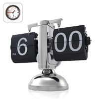Alarm Clocks Mechanical  Hot sale Retro Flip Down Clock Internal Gear Operated Classical style table clock