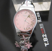 Wholesale HKfree China brand watches fashion flowers women bracelet watch