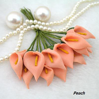 Wholesale 3packs PEACH Mini Calla Lily Flower Wedding Scrapbooking wedding Decoration