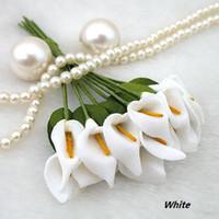 3packs белый мини Калла цветок лилии Свадебная скрапбукинг Новогоднее украшение ОПТОМ