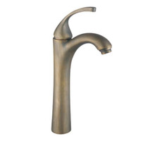 Centerset bathroom sink brands - antique brass basin sink faucet single handle bathroom mixer brand new SMGY