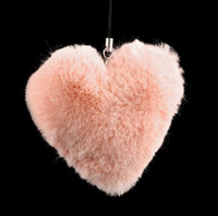 Promotion Fur Solar Keychains Rex Rabbit Fur Ball Fur Mobile Strap Coppia Fur Keychain Fur Key Ring Fur Bag Hanging Bag Hanger K40