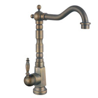 Wholesale antique brass basin sink faucet single handle kitchen mixer SMGY