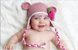 Handmade Cute Monkey Baby Knit hHat,Infant Flower Hat,Cute Baby Hat,Infant Monkey Cap
