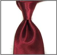 Precio de Venta al por mayor corbata roja-Corbata del lazo corbatas de los hombres rojos lazo sólido corbata personalizada hombres corbatas lazos comerciales corbatas para los hombres empate por mayor