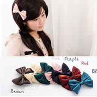 Wholesale Hot Girls Fashion Hair Claw Clips Bowknot hair Clasp Hairpins