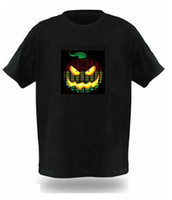 Unisex battery t shirt - 100pcs Fashion Black EL Flashing Equalizer Music T shirt driven by only AAA batteries
