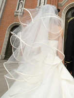 Hot Classy 4 layers White Ivory Wedding Veil Bridal Veil Wit...