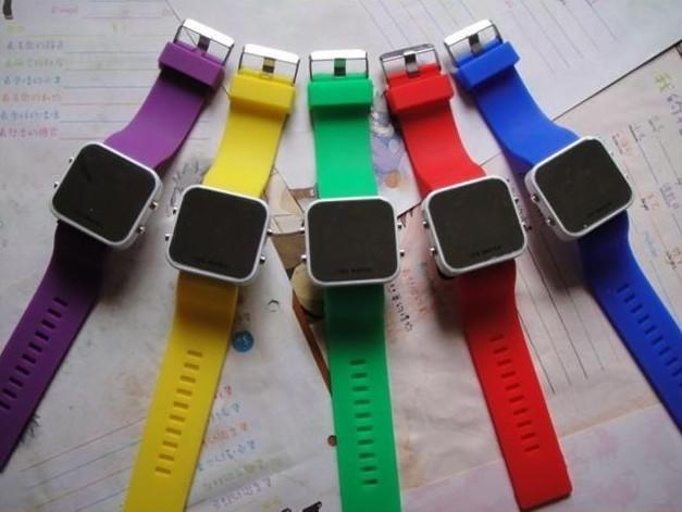 Jelly Watches Led Mirror Watch Sport Jelly