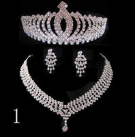 Rhinestone/Crystal Crown  new Three-piece Bridal Accessories Tiaras Hair Accessories NEW style Wedding accessories 10
