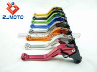Wholesale CNC Brake Clutch Lever for ZX6R amp Z1000 amp ZX10R amp Z750R amp Z1000SX NINJA shorty lever