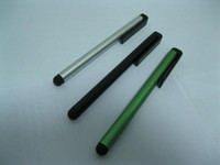 Wholesale Capacitive Touch Screen Stylus Pen with Clip for iPhone S Tablet PC new iPad iPad2