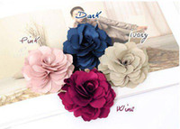 Wholesale fashion flower brooches hair band hair clip beach romantic hair accessory hair flowers