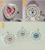 Wholesale Surprise price New Design Finger Ring Watch Girls XMAS GIFT RIB Finger table gfd