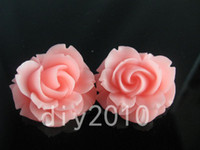 Wholesale 36mm rose resin flower bead flatback bead fit brooch necklace earring phone case pcslot colors