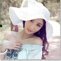 Wholesale- - Ms. large- brimmed hat, 2011 summer hats, beach hat...
