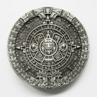 Smooth Buckle aztec calendar - Retail Belt Buckle Aztec Calendar Belt Buckle With mm Loop