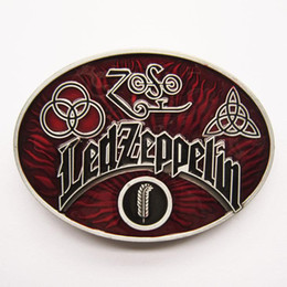 Wholesale Belt Buckle Antique Brushed Silver Color Red Rock Music Led Zeppelin Contact Us for Details BUCKLE MU033
