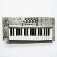 antique pianos - Belt Buckle Antique Brushed Silver Color Rhinestones Piano Contact Us for Details BUCKLE MU039