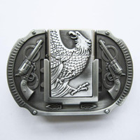 antique silver lighters - Belt Buckle Antique Silver Eagle Guns Lighter