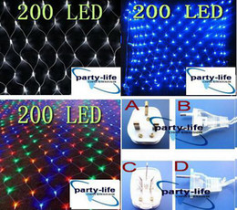 US AU UK EU plug 200 LED BIG NET light for wedding Party decorate ,Christmas LED light ,20pcs lot