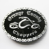 Wholesale Oval Motorcycle Chains Black Choppers Biker Belt Buckle AT027BK Brand New In Stock