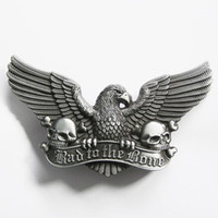 Wholesale Vintage Bad To The Bone Eagle Skulls Emo Belt Buckle D042AS Brand New In Stock