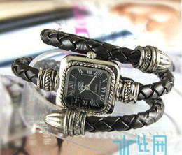 Hot Snake Roman Leather Braided Bracelet Watches Fashion Women's Wrist Watches Xmas Gift New arrival 10pcs