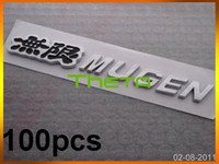 Wholesale 100pcs Black MUGEN Car Badge Sticker Chrome Emblem CM Badges High Quality