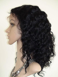 Front Lace wigs 100% India Human Hair Deep wave wig full lace wig