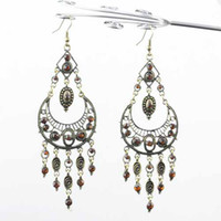 Wholesale Oversize cm Metal Plating Antique Bronze Dangle Earrings New Jewelry Chandelier Earrings ER B