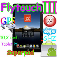 Wholesale 10 quot Flytouch3 Android tablet pc GPS WIFI Camera Ghz X220 G SuperPad Flytouch