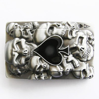 ace belt buckle - Retail Tattoo Skulls Ace Spade Belt Buckle