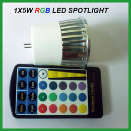 5PCS 12V MR16 5W RGB LED Spotlight