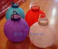 Wholesale 20pcs New Style Chinese Paper Lantern with bulb Wedding Decorations quot Powered by battery