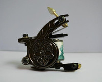 1 Piece skull tattoo gun - 2014 NEW Skull frower tattoo machine Black tattoo gun for shader