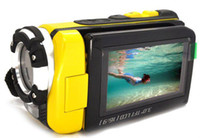 Wholesale 3 inch Screen MP FULL HD P Waterproof Digital Video Camera Camcorder HDMI Yellow Free EMS