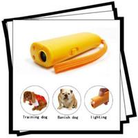 Wholesale Ultrasonic Dog Deterrent Bark Stopper Dog Repeller training REPELLER LED light