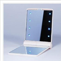 Wholesale 10pieces New Makeup Compact Cosmetic Mirror w LED Light Lamp Only