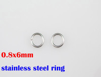 Wholesale 0 x6mm L stainless steel rings DIY necklace accessories chains parts SP019