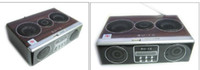 Wholesale 4 in Mini Sound box MP3 player Mobile Speaker boombox FM Radio SD Card reader USB SU12 With Remote